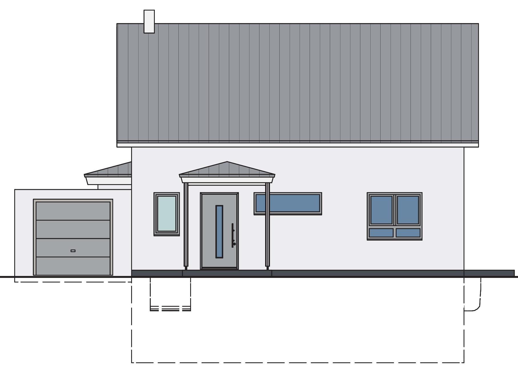 Haus mit Wintergarten Ansicht 1