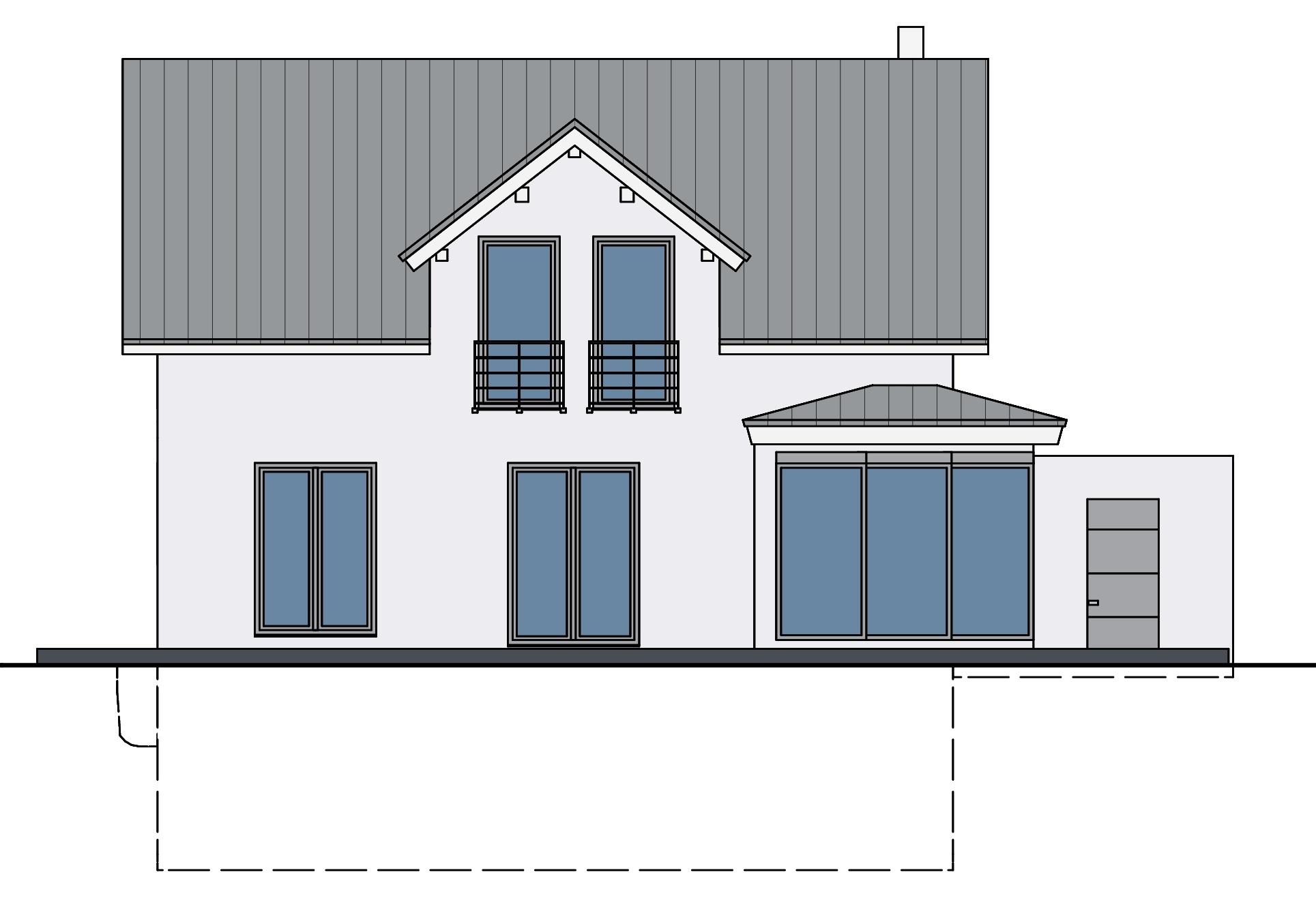 Haus mit Wintergarten Ansicht 3