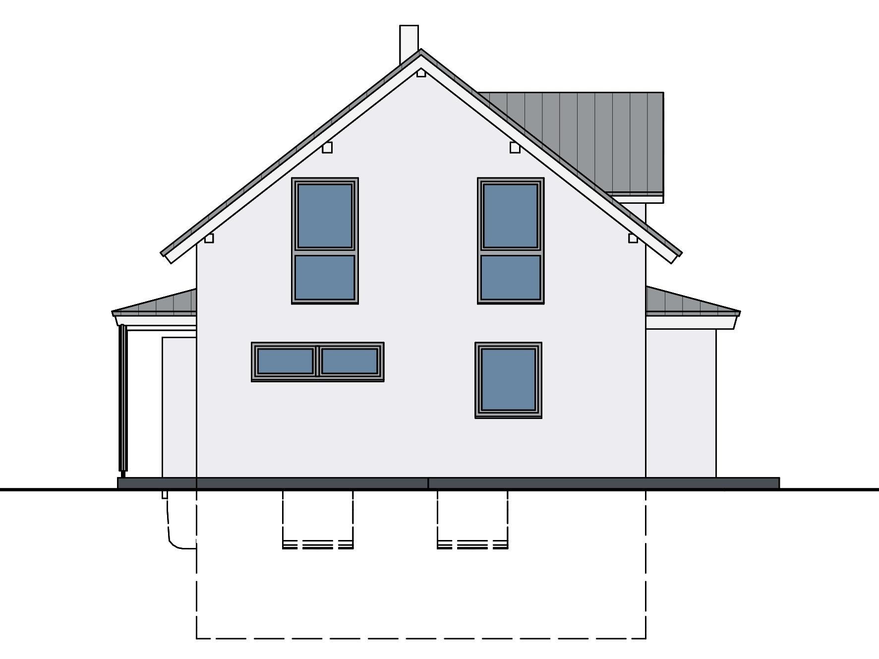 Haus mit Wintergarten Ansicht 4