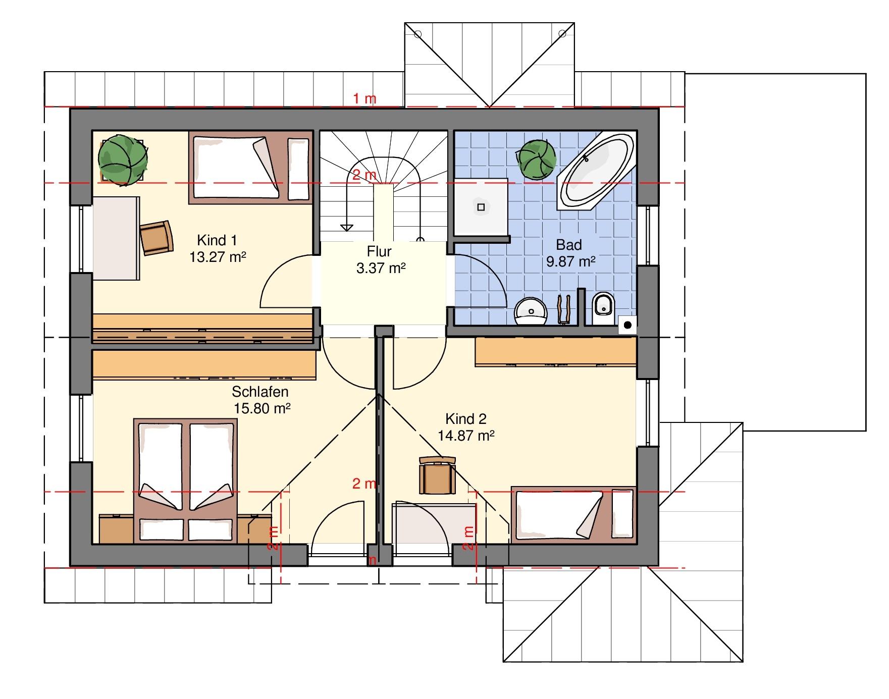 Haus mit Wintergarten DG