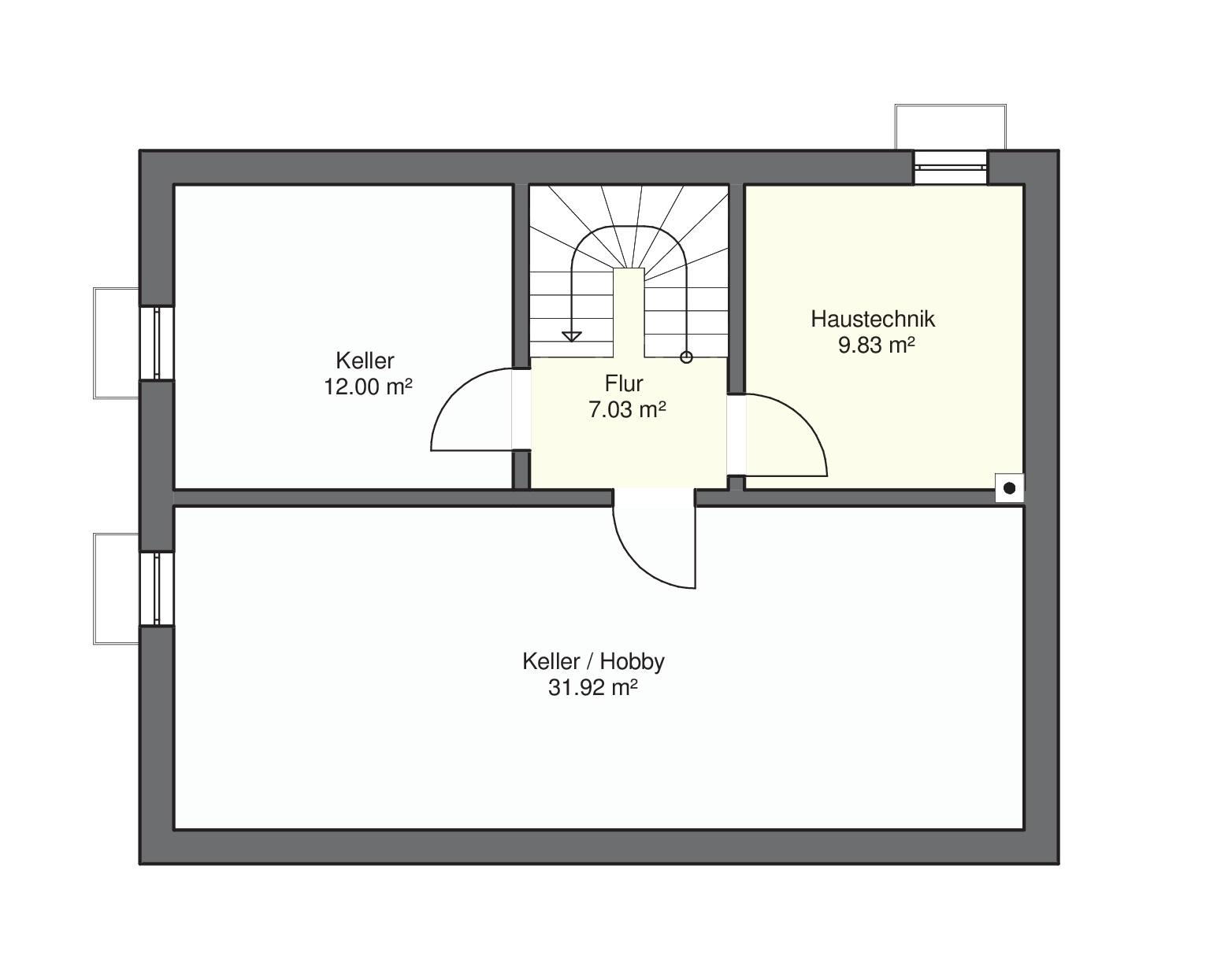 Haus mit Wintergarten UG
