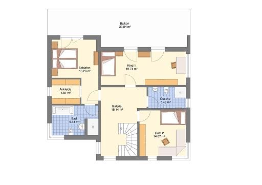 Mediteran 242 Obergeschoss